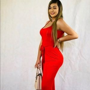 """""""Mami"""" red pants jumpsuit"""